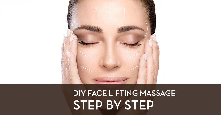 DIY Face Lifting Massage - Step by Step