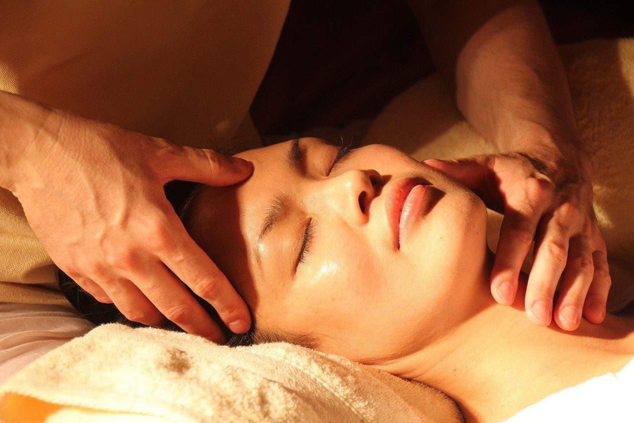 women getting a professional massage