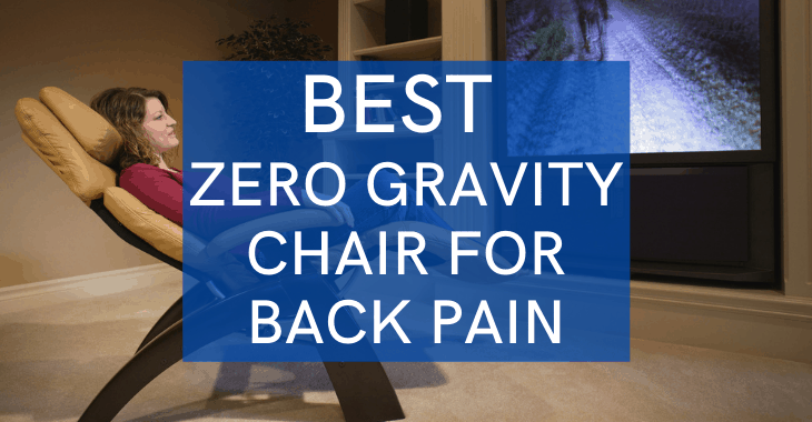 woman in a zero gravity chair watching tv with text overlay